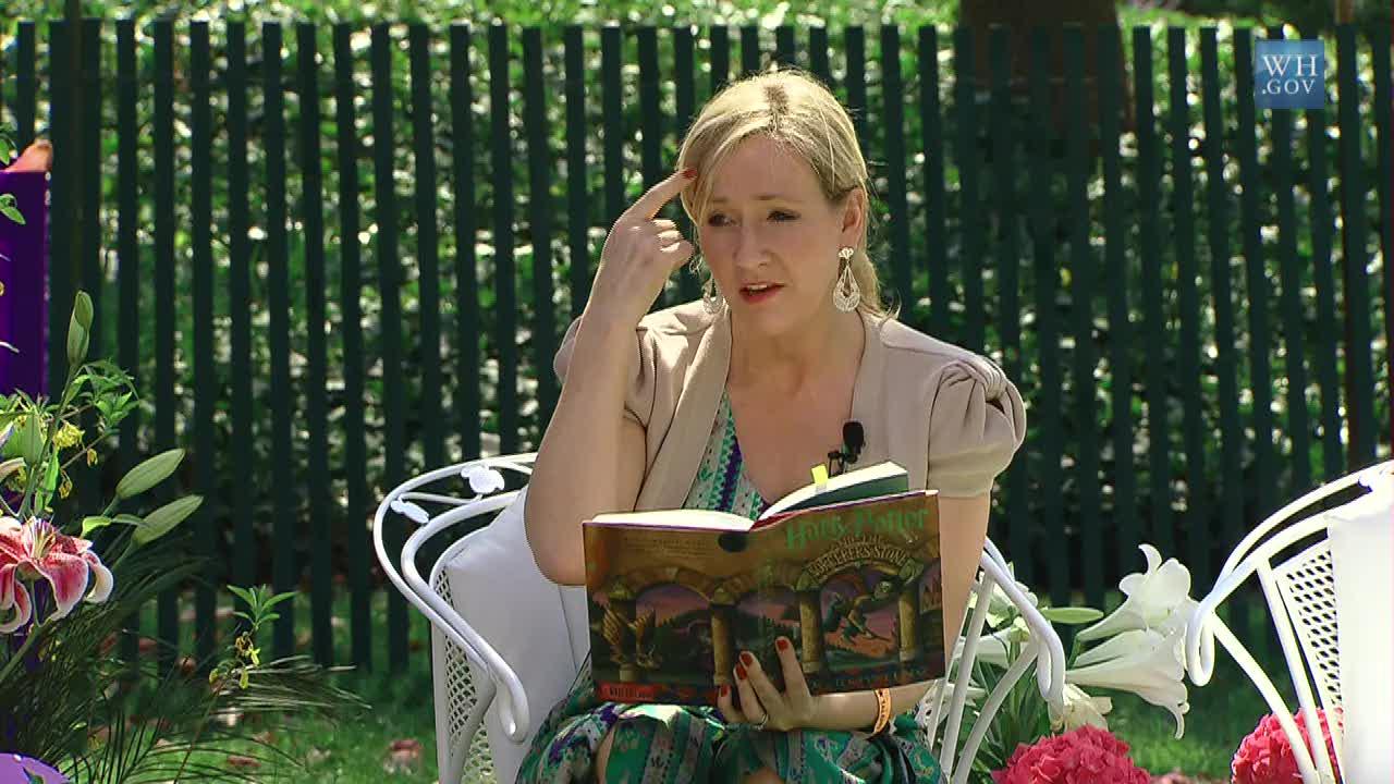 Världskändisen J.K Rowling